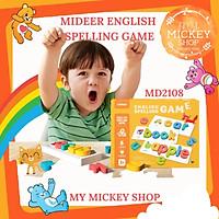 Mideer English Spelling Game - đồ chơi giáo dục sớm ghép chữ học Phonics tiếng Anh Montessori dành cho trẻ 3 4 5 tuổi