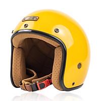 Nón bảo hiểm 3/4 Bulldog Perro 4U cao cấp Chính hãng, Lót tháo rời, Tặng khóa số chống trộm, túi xách và balo rút Bulldog