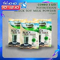 Combo 3 gói bột đậu nành đen (384g)