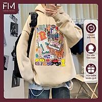 Áo hoodie nam nữ form rộng Unisex một màu in hoạt hình cá tính Hàn Quốc – FORMEN SHOP – FMGV034