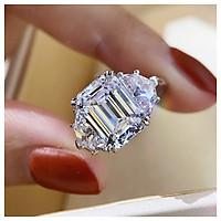 Nhẫn kim cương 5 cara mạ vàng 14K QYP40080