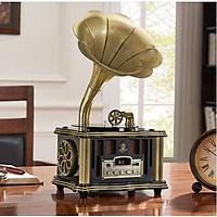 MÁY PHÁT NHẠC LOA KÈN ĐỒNG ( MÁY SIÊU ĐẸP ) NGHE NHẠC QUA BLTOOTH, USB, ĐÀI FM,