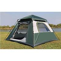 Lều cắm trại 4 6 người HEWOLF 4 cửa thoáng mát có tấm che dày dặn chắc chắn chống tia UV cao