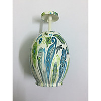 Lọ tăm hình quả trứng họa tiết đẹp giao màu xanh