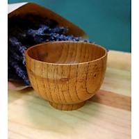 Bát ăn cơm hoặc đựng thức ăn được thiết kế thủ công bằng gỗ tự nhiên, kiểu dáng sang trọng