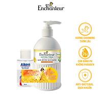 Nước rửa tay sạch khuẩn từ thiên nhiên Enchanteur Charming Anti-Bacterial 300gr - Tặng gel rửa tay Aiken 60ml