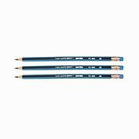 Bút chì gỗ Batos PC-2B - Hộp 12 chiếc - Set 2 hộp - Bút chì 2B có gôm tẩy