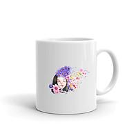 Ly Sứ,Cốc Sứ Cao Cấp In Hình Cô gái hoa - ACBDANH003 – Màu Trắng Cao Cấp