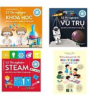 Combo bộ 3 cuốn 52 thí nghiệm kích thích sự sáng tạo và Phương Pháp Giáo Dục Sớm Montessori Cho Trẻ Từ 0-3 Tuổi
