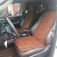 Đệm hạt gỗ tựa lưng massage ô tô 100% gỗ Trắc tự nhiên nguyên mộc, đan kết diềm mép cao cấp - Kích thước: 1,21 X  0,45 (M) - Trọng lượng: 3,1Kg
