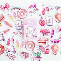 Hộp 46 Miếng Dán Sticker Trang Trí Con Đường Đi Đến Trái Tim Nàng