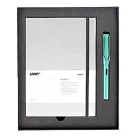 Gift Set Lamy Notebook A5 Softcover Grey + Lamy Al-Star Bluegreen - GSNAl0011