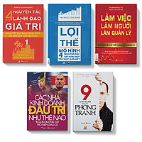 Bộ sách 5 cuốn:Các nhà kinh doanh đấu trí như thế nào,9 loại người cẫn phòng tránh,4 nguy