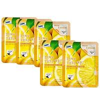 Combo 5 Mặt nạ dưỡng da chiết xuất từ chanh 3W Clinic Fresh Lemon Mask Sheet 23ml x 5