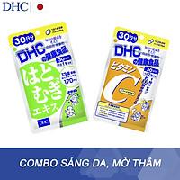 Combo Viên uống DHC Sáng da - Mờ thâm (Adlay Extract & Vitamin C) chống lão hóa, trắng ds