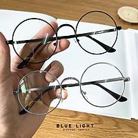 Kính Giả Cận, Gọng Kính Cận Nam Nữ Mắt Tròn Xoe Nobita Bạc Đen Không Độ Hàn Quốc - BLUE LIGHT SHOP
