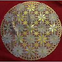 Khăn trải bàn ren hoa hình tròn đường kính 50cm