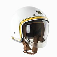 Mũ Bảo Hiểm Royal M139 Kính Âm Tem V10 Trắng