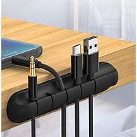 Phụ kiện giữ dây cáp sạc Giá Silicon mini cố định dây cáp sạc cho các thiết bị điện tử trên bàn làm việc - Hàng Chính Hãng