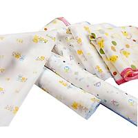 set 10 khăn xô sữa cho bé có họa tiết