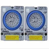 Bộ 2 Công tắc hẹn giờ cơ công suất lớn 15A Timer 24H Camsco TB35-N