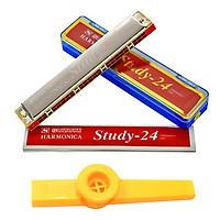 Kèn Harmonica Tremolo Suzuki Study 24 Lỗ (Key C 24 Holes) kèm Kèn Kazoo DreamMaker