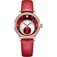Đồng hồ nữ dây da đính đá chính hãng Thụy Sĩ TOPHILL TE036L.NR2A37