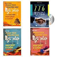 Combo 4 sách: Giáo trình phân tích chuyên sâu Ngữ Pháp theo Giáo trình Hán ngữ 6 cuốn + Bài tập tập 1 (Hán 1-2-3-4) + Bài tập tập 2 (Hán 5-6) và 116 Hợp đồng Kinh Tế Thư Tín Thương Mại song ngữ Trung Pinyin + DVD tài liệu