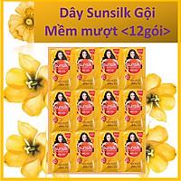 Dầu gội Sunsilk Mềm mượt diệu kỳ (Vàng) Dây 12 gói