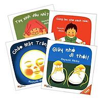 Sách Combo Ehon Nhật Bản 4 cuốn (Tay xinh/ Giày nhỏ/ Chào mặt trăng/ Cùng lau)