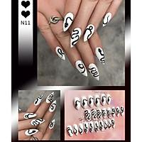 Bộ 24 móng tay giả nail thơi trang như hình (N11)