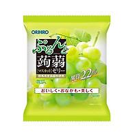Thạch trái cây Orihiro gói nhỏ 6 cái/gói (vị nho xanh, nho tím) - Date 2/2021