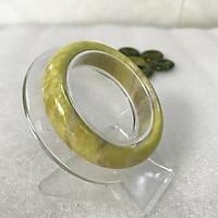 Vòng tay Đá Tự Nhiên Serpentine màu vàng bản dẹt cho người mệnh Thủy và Kim vongtaymenhthuy