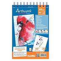 Sổ vẽ lò xo kép đa năng KLONG Artwork A5 - 300GSM - 30 tờ; MS: 780