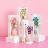 Lọ tinh dầu khuếch tán hương nước hoa thơm phòng kèm hoa khô trang trí - phụ kiện làm thơm phòng mã TD207 ( giao màu ngẫu nhiên )