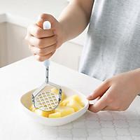[Hàng mới về] Dụng cụ nghiền khoai tây, trái cây bằng tay, dụng cụ cắt  bằng thép không gỉ