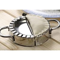 COMBO Khuôn làm bánh xếp Làm há cảo Ravioli 1 LỚN 9.5 cm 1 NHỎ 7.5cm | Khuôn làm bánh quai vạt | Khuôn sủi cảo inox 304 không gỉ tiện lợi | Đế tròn cắt bột | Gấp gọn đơn giản dành cho đầu bếp nhà hàng và các tân binh nhà bếp