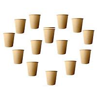 Combo 50 Cốc giấy văn phòng, Ly giấy dùng một lần 5OZ 150ml dùng cả nóng và lạnh - Nâu Cafe