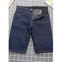 Quần short jean nam xanh đen vải đẹp Q393 Muidoi | quần nam | quần short nam - 36