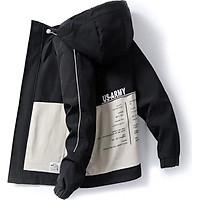 Áo khoác nam JJ12 kaki 2 lớp phối nón không tháo rời thời trang hàn quốc trẻ trung cuốn hút Julido mẫu TT05 chất liệu thấm hút mồ hôi dày dặn mặc thoáng mát