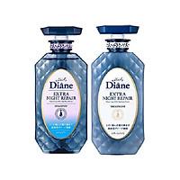 Bộ Đôi Gội Xả Cho Tóc Xơ Gẫy Rụng Moist Diane Extra Night Repair 450mlx2