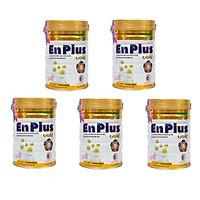 Bộ 5 Lon Sữa Bột Nutifood Enplus Gold - Dành cho người cao tuổi, người bệnh, người ăn uống kém (900g)