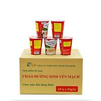 Thùng 24 ly cháo yến mạch dưỡng sinh ăn liền Tâm Minh (24 ly x 43 gam)