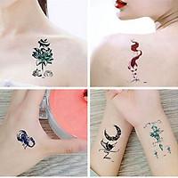 Combo 30 miếng dán tattoo, hình xăm cute họa tiết đa dạng cực phong cách HX1