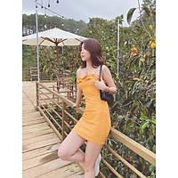 Đầm thun dây cam Aza Dress Gem Clothing SP060309