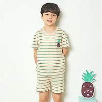 Bộ đồ ngắn tay mặc nhà cotton mịn cho bé trai U3009 - Unifriend Hàn Quốc, Cotton Organic