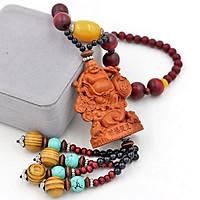 Dây Treo phong thủy Phật Di lặc vác kim tiền 3D - Vật phẩm trang trí phong thủy