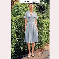 Chân váy dài xếp li GUMAC VB689