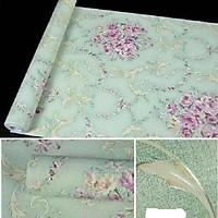 Combo 10M giấy dán tường Họa Tiết Xanh Ngọc (khổ 10m x 0.45m)