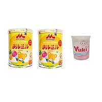 Combo 2 Hộp sữa Morinaga Chilmil 850g số 2 mẫu mới + 1 hộp tăm bông Yuki Nhật Bản 180 c